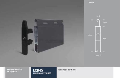 EXR45 ALUMINIO EXTRUIDO